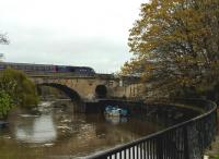 Bath Spa station is located between two bridges over the River Avon. An up HST [see image 45700] is seen heading East out of the station on 8th November.<br><br>[Ken Strachan 08/11/2015]