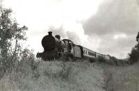 LMS 2P 4-4-0 40595 near Alloway on 6 August 1960 with a train for Heads of Ayr.    [Ref query 9615]<br><br>[G H Robin collection by courtesy of the Mitchell Library, Glasgow 06/08/1960]