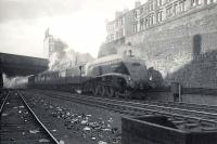Gresley A4 Pacific 60004 <I>William Whitelaw</I> on Cowlairs Incline with the 5.15pm ex-Edinburgh Waverley on 5 August 1952.  <br><br>[G H Robin collection by courtesy of the Mitchell Library, Glasgow 05/08/1952]