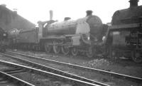 Part of the shed yard at Basingstoke on 15 August 1961, with Urie S15 4-6-0 30501 featuring in the lineup.<br><br>[K A Gray 15/08/1961]