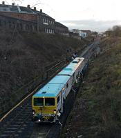 SB Rail ballast tamping machine inches up the down line and 'commits a SPAD' in the line of duty.<br><br>[Martin MacGuire 06/04/2016]