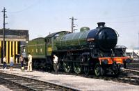 At Steamtown Carnforth Summer 1976. Given the name 'Mayflower' which actually belonged to the scrapped (6)1379.<br> <br><br>[Colin Miller //1976]