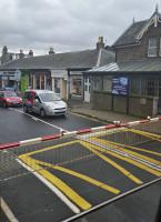 Business start-up space to let at Broughty Ferry, unique location, (extremely) good access to public transport. View from a northbound train on the level crossing.<br><br>[John Yellowlees 13/04/2016]