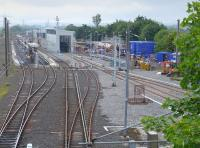 The west end of Craigentinny Depot with new construction under way - for what purpose?<br><br>[Bill Roberton 13/06/2016]