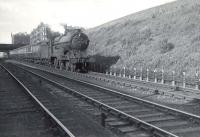 Robinson 'Director' 4-4-0 no 62671 <I>Bailie Macwheeble</I> descending Cowlairs Incline on 5 August 1952 with a train from the Fife Coast.  <br><br>[G H Robin collection by courtesy of the Mitchell Library, Glasgow 05/08/1952]