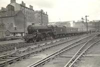 Black 5 44997 arriving at Buchanan Street on 20 June 1957 with an express from Aberdeen.  <br><br>[G H Robin collection by courtesy of the Mitchell Library, Glasgow 20/06/1957]