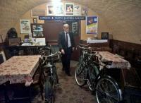 The space under the road bridge at Quorn station has been turned into a NAAFI canteen for Forties weekends. The gent at the centre of the shot may appear a little waxen, but was very much alive. View looks North.<br><br>[Ken Strachan 10/09/2016]