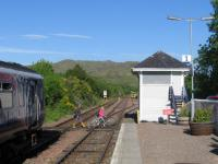 A traditional - and sensible - low-cost walking route across the railway: the barrow crossing at Arisaig on 3rd June 2016.<br><br>[David Spaven 03/06/2016]