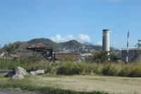 The central sugar factory at Basseterre which was in operation between 1912 and 2005. The St Kitts Railway made a thirty mile circuit of the island and operated seasonally to bring harvested cane from the various estates to this central processing plant. Before the 21st century tourist trains sugar cane was the sole traffic on the line.