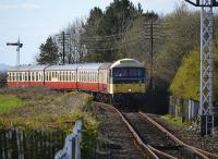 47643 nears Bo'ness with the last train of the day.<br><br>[Bill Roberton 02/04/2017]