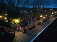 Sunset at Bewdley, looking North West across platform 1 from the footbridge during the Spring Steam Gala.<br><br>[Ken Strachan 18/03/2017]