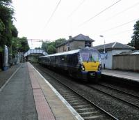 A Milngavie to Motherwell service calls at Bearsden on 17/06/2017.<br><br>[David Panton 17/06/2017]