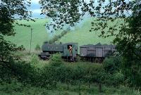 No 17 works hard taking a loaded coal train to the Bedlay exchange sidings.<br><br>[Andy Kirkham //]