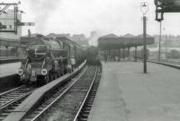44960 for Inverness and 44998 for Aberdeen at Buchanan Street.<br><br>[John Robin 16/08/1963]