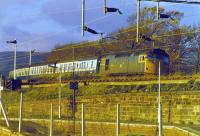 27034 with evening train from Mallaig passing site of Craigendoran Upper station.<br><br>[John Robin //]