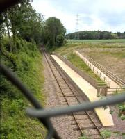 The new GCR branch terminus at Mountsorrel is both basic and forbiddingly secured when not in use. But it allows the Great Central to be one of the few preserved railways with an active branch line. The original line, which was built to transport stone from the Mountsorrel quarries, fell into disuse in the 1950s and was lifted in the 1960s. <br><br>[Ken Strachan 25/06/2017]