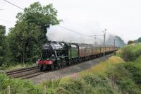 The second <I>Fellsman</I> excursion of 2017 was hauled by 8F 2-8-0 48151, seen here at Bay Horse heading for Preston with the outward leg on 25th July 2017. <br><br>[Mark Bartlett 25/07/2017]