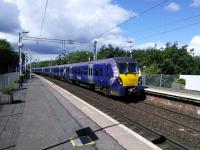 An Edinburgh service pulls into Carntyne on 5 August.<br><br>[David Panton 05/08/2017]