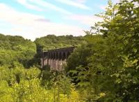 This magnificient viaduct was built to connect the Hull and Barnsley with GNR and GER lines. Although the track beds North and South have been 'landscaped', the viaduct itself is tarmacked. View south in August 2017. [Ref query 1675]<br><br>[Ken Strachan 16/08/2017]