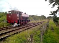 When you're 73 years old, it's easy to forget where you left things - like, three coaches. 'Mech Navvies No. 1' runs round its coaches on 19th August. View looks North West, towards Furnace Sidings.<br><br>[Ken Strachan 19/08/2017]