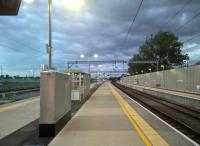 Platform view at Cambridge North on 10 July 2017, approximately 7 weeks after opening. This photograph is probably deceptive - there may be few trains in the evening, but there are many during the day, when I'm sure the station is very busy. Still, it looks very smart when it's empty. View north towards Ely.<br><br>[Ken Strachan 10/07/2017]