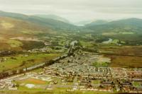 Banavie (centre) with the Caledonian Canal, Neptune's Staircase and Loch Lochy in the distance taken from a Helicopter on a flight from Fort William and around Ben Nevis, was really amazing!!!!<br><br>[Gordon Steel 17/08/1987]