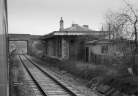 Ayhno Station, closed on 2 November 1964. Viewed from the north. The building still stands.<br><br>[Bill Roberton //1986]