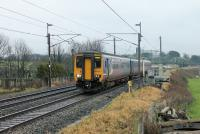156425 leads 153363 through Bay Horse with a Northern service from Preston to Windermere on 29th December 2017. <br><br>[Mark Bartlett 29/12/2017]