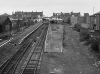 Looking east over Broughty Ferry Station in 1985.<br> <br> <br><br>[Bill Roberton //1985]
