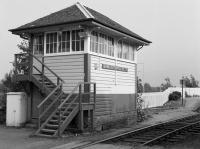 Banavie signal box, later replaced by an RETB control centre built in sympathetic style.<br><br>[Bill Roberton //1985]