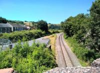 Looking North towards Cwmbargoed at the station site in the remote village of Bedlinog in June 2018. Although locals told me that Cwmbargoed was closed, the rails were shiny. Ironically, there is a travel agent's office at the entrance to the former station yard. [Ref query 11 July 2018]<br><br>[Ken Strachan 30/06/2018]