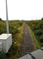 Looking South towards Quainton Road, the trackbed from Verney Junction can be seen trailing in on the left. <br><br>[Ken Strachan 22/09/2018]