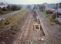 Corkerhill looking east to the depot before reopening to passengers.<br><br>[Ewan Crawford //1987]