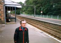 I will forever think of this chap as the stationmaster at Bearsden. He must have been driven bananas by our returning there on-peak with an off-peak ticket.<br><br>[Ewan Crawford //1987]