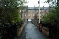 The bridge over Pollokshields West today. No building.<br><br>[Ewan Crawford 26/03/2006]
