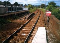 Alexandria showing the platform unused since reduction to a single track.<br><br>[Ewan Crawford //1987]