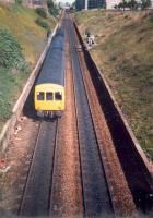 DMU struggles up the Cowlairs incline.<br><br>[Ewan Crawford //1987]