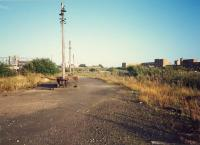 College Goods yard. How are the mighty fallen. View looks east. Airdrie line to left, CGU to right.<br><br>[Ewan Crawford //1987]