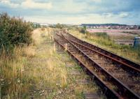 To the east of Whifflet Upper was Calder Yard which served the BSC Calder works (closed, right). The line ran east to BSC Imperial works.<br><br>[Ewan Crawford //1987]