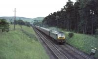 Brush Type 4 D1841 approaches Abington station with train from Manchester in the summer of 1965.<br><br>[John Robin 10/07/1965]