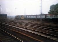Craigentinny depot viewed from eastbound train.<br><br>[Ewan Crawford //1987]