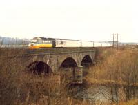 Diverted westbound 125 crossing the Clydebridge Viaduct.<br><br>[Ewan Crawford //1988]