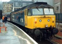 The locomotive for my journey to Carlisle via Paisley and Ayr was 47 518.<br><br>[Ewan Crawford 26/11/1988]