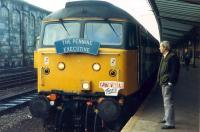 The Pennine Executive and friend at Carlisle.<br><br>[Ewan Crawford 26/11/1988]