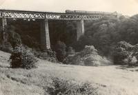 Larkhall Viaduct (highest in Scotland). 80003 ex Strathaven. Railscot note: Broomhill Viaduct is often referred to as Larkhall Viaduct.<br><br>[G H Robin collection by courtesy of the Mitchell Library, Glasgow 23/07/1953]