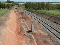 View east towards Gretna from the outskirts of Annan in May 2007 showing widening work underway.<br><br>[John Furnevel /05/2007]